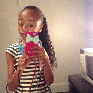 my cousin skai jackson on her phone