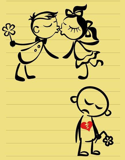 cute emotions pencil art
