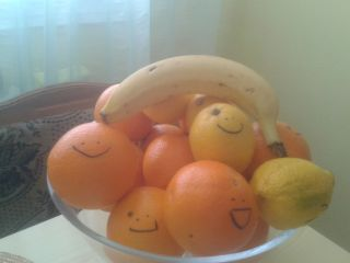 my fruit is smiling