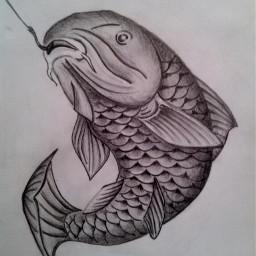 art artist black & white draw collage drawn draw drawing drawn prncil adt artist artistic bestdrawing fish carp my draw love whiteandblack follow followme like4like tagsforlikes 20like