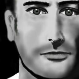 dcportrait black & white drawing people